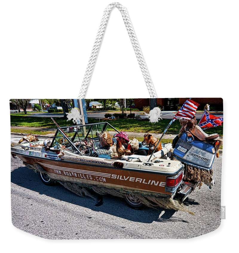 Boat Weekender Tote Bag featuring the photograph Identity Crisis by Christopher Holmes