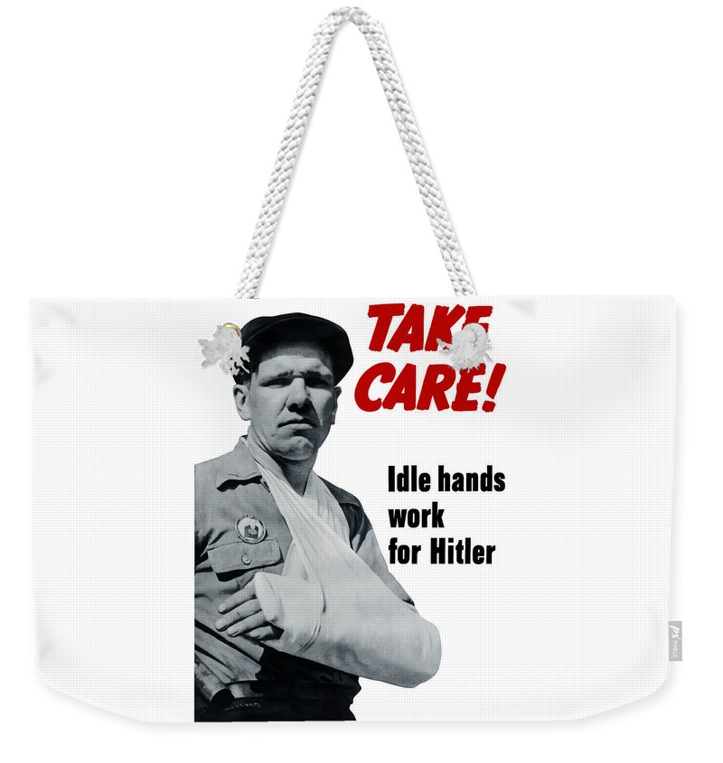 World War Ii Weekender Tote Bag featuring the digital art Idle Hands Work For Hitler by War Is Hell Store