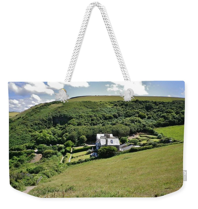 Cornwall Weekender Tote Bag featuring the photograph Idyllic North Cornwall by Richard Brookes