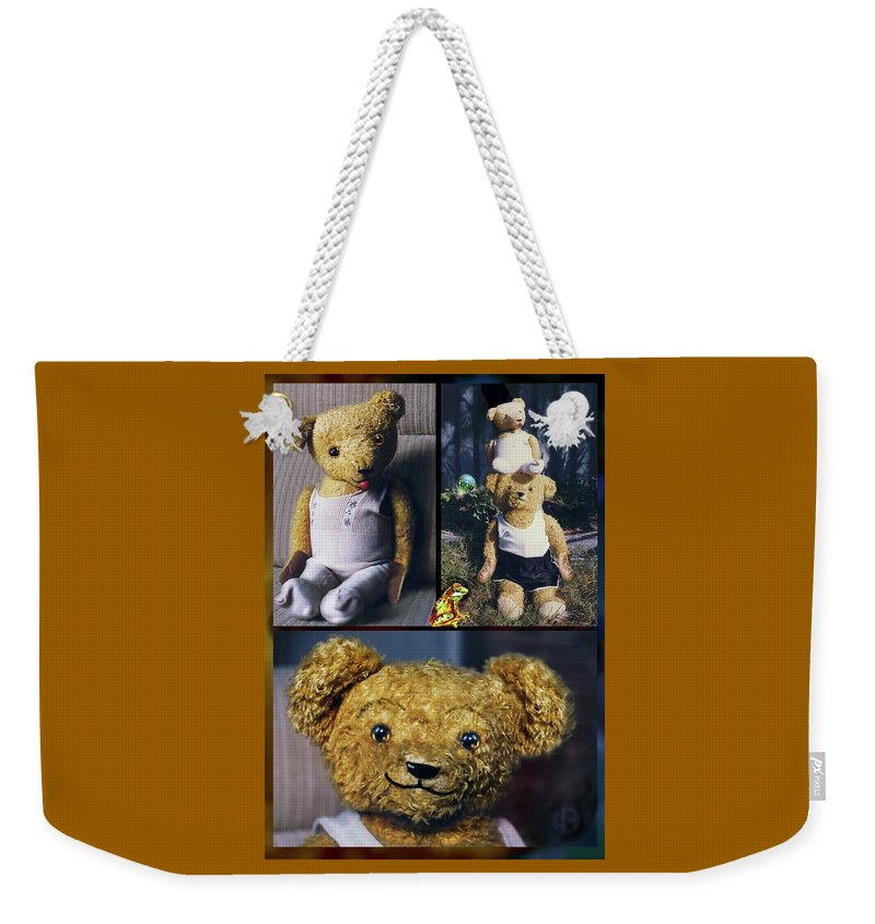 Teddy Bears Weekender Tote Bag featuring the photograph If You Go Down To The Woods Today. . . by Hartmut Jager