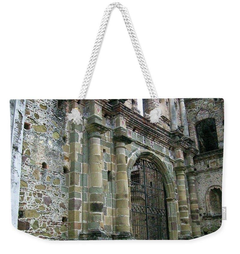 Flat Weekender Tote Bag featuring the photograph Iglesia De La Compania De Jesus 2 by Douglas Barnett