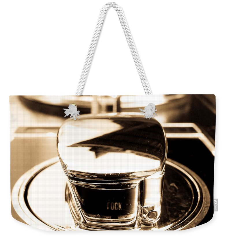 Controls Weekender Tote Bag featuring the photograph Ignition Lock Accessories by Julie Niemela