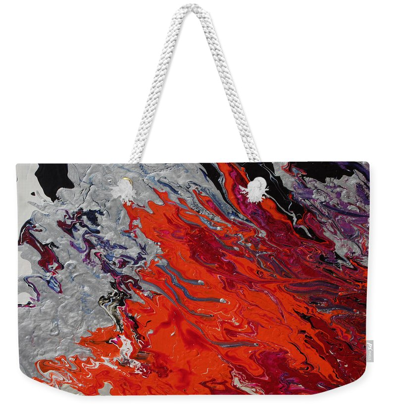 Fusionart Weekender Tote Bag featuring the painting Ignition by Ralph White