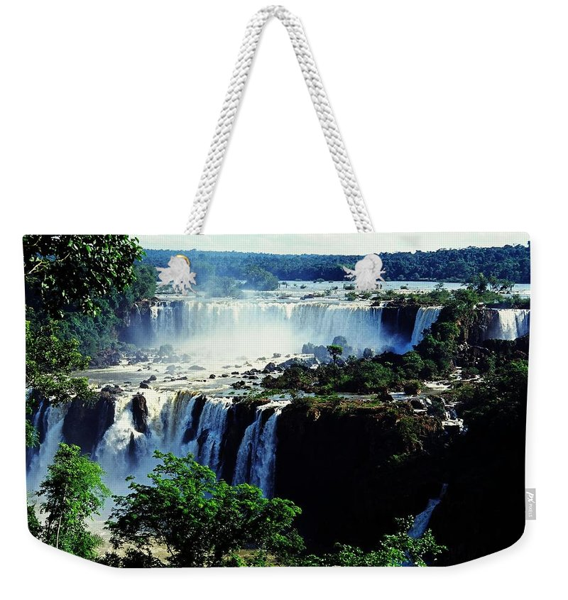 South America Weekender Tote Bag featuring the photograph Iguacu Waterfalls by Juergen Weiss