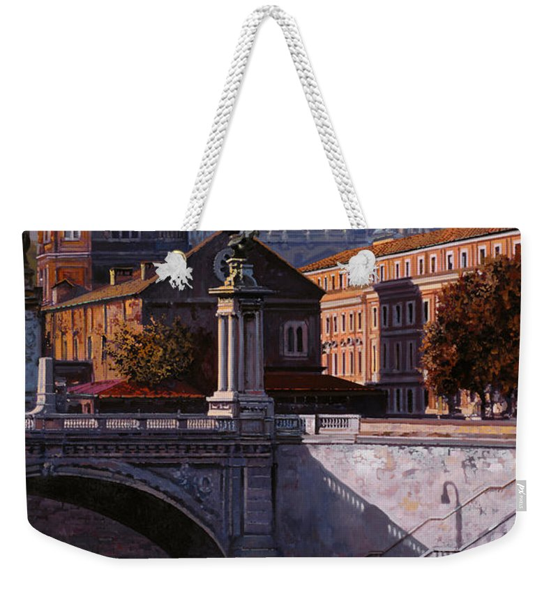 Rome Weekender Tote Bag featuring the painting Il Cupolone by Guido Borelli