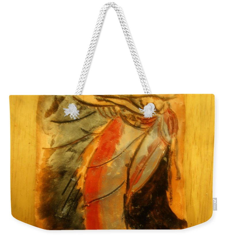 Jesus Weekender Tote Bag featuring the ceramic art I'll Make You - Tile by Gloria Ssali