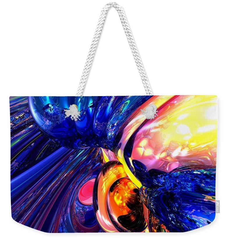 3d Weekender Tote Bag featuring the digital art Illuminate Abstract by Alexander Butler