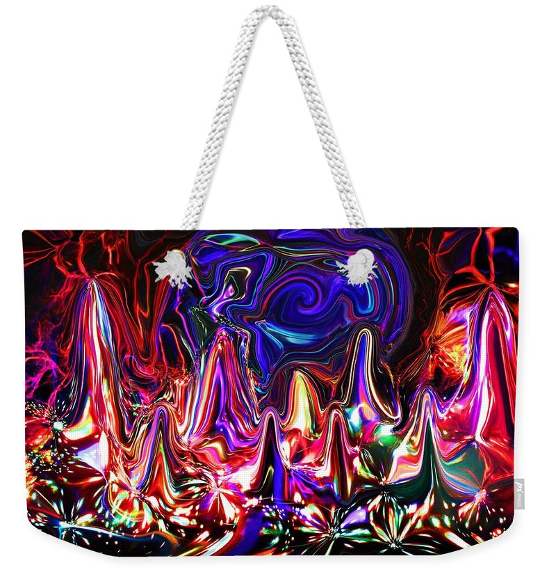 Weekender Tote Bag featuring the digital art Illumination by Charles Duax