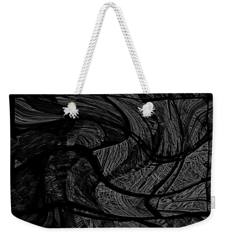 Abstract Digital Painting Weekender Tote Bag featuring the digital art Illusion 005 by David Lane