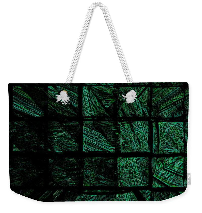 Abstract Digital Painting Weekender Tote Bag featuring the digital art Illusion 2 by David Lane