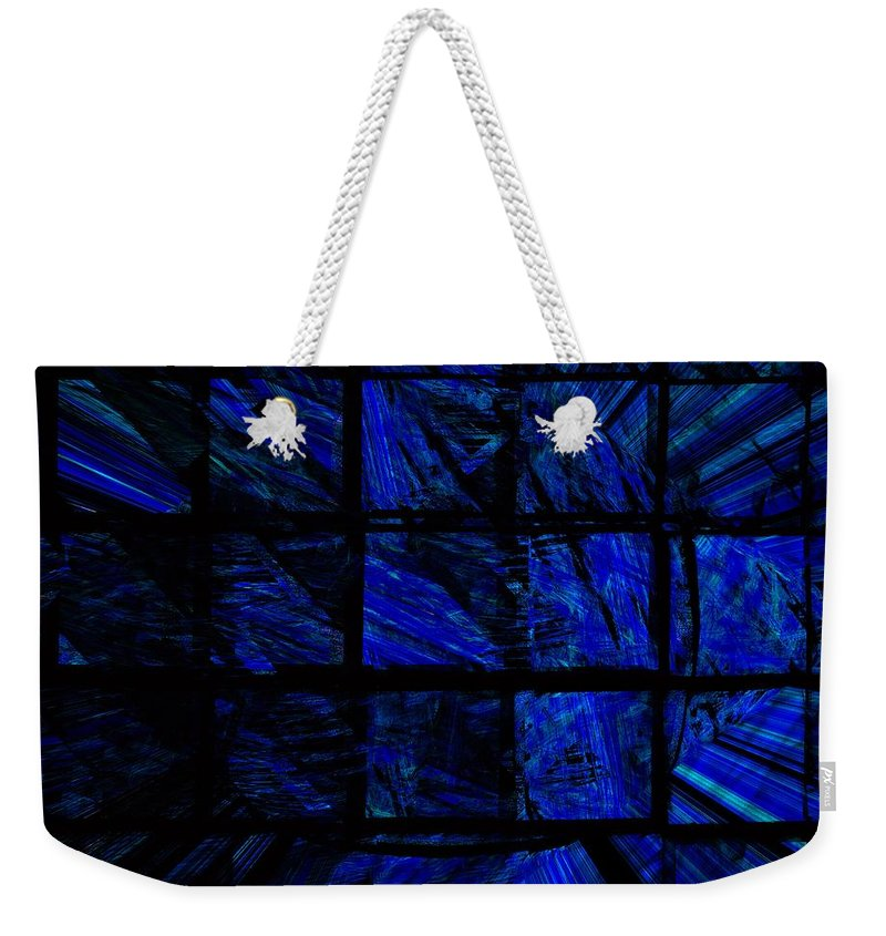 Abstract Digital Painting Weekender Tote Bag featuring the digital art Illusion by David Lane
