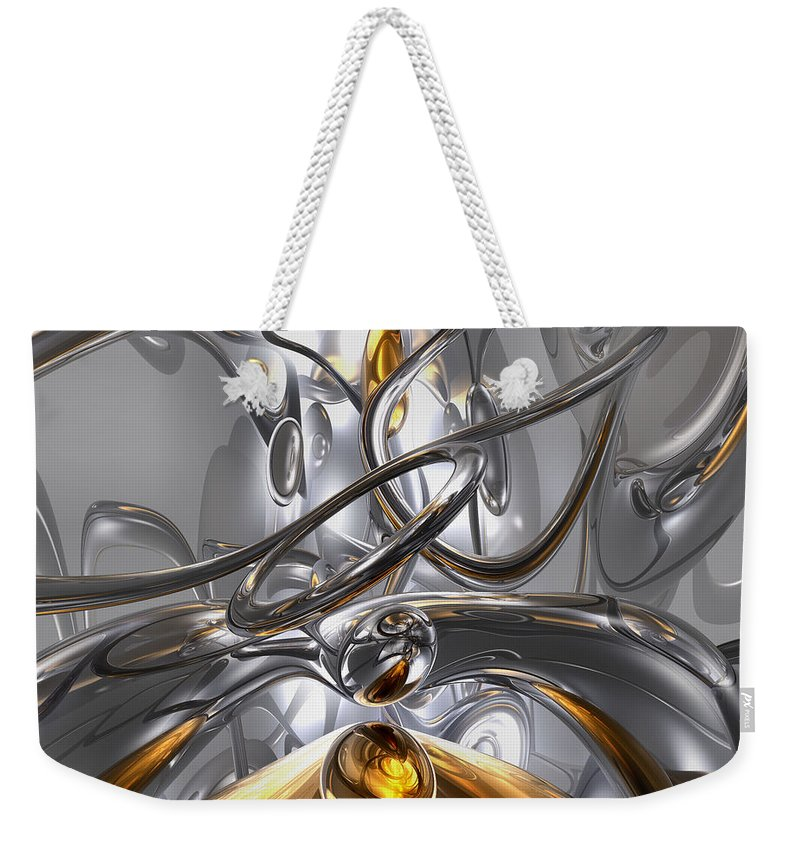 3d Weekender Tote Bag featuring the digital art Illusions Abstract by Alexander Butler