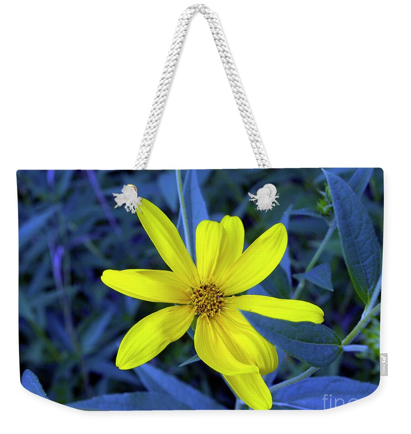 Flower Art Weekender Tote Bag featuring the photograph I'm Here by Gary Andre