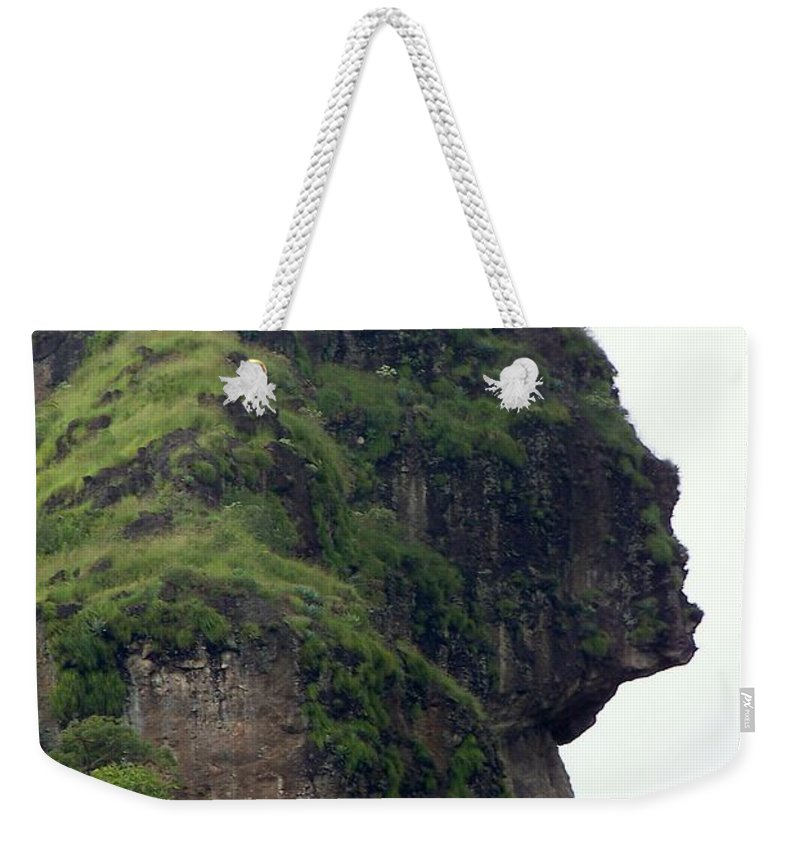 Face Weekender Tote Bag featuring the photograph Image Of A Woman by Karen Wiles