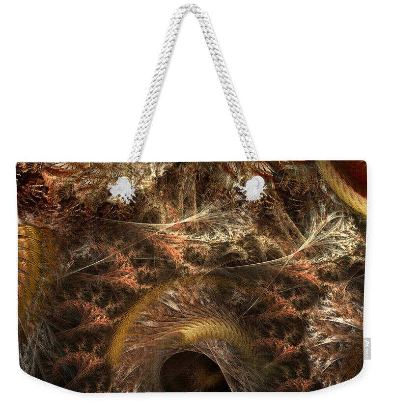 Abstract Weekender Tote Bag featuring the digital art Image Of The Organism by Casey Kotas