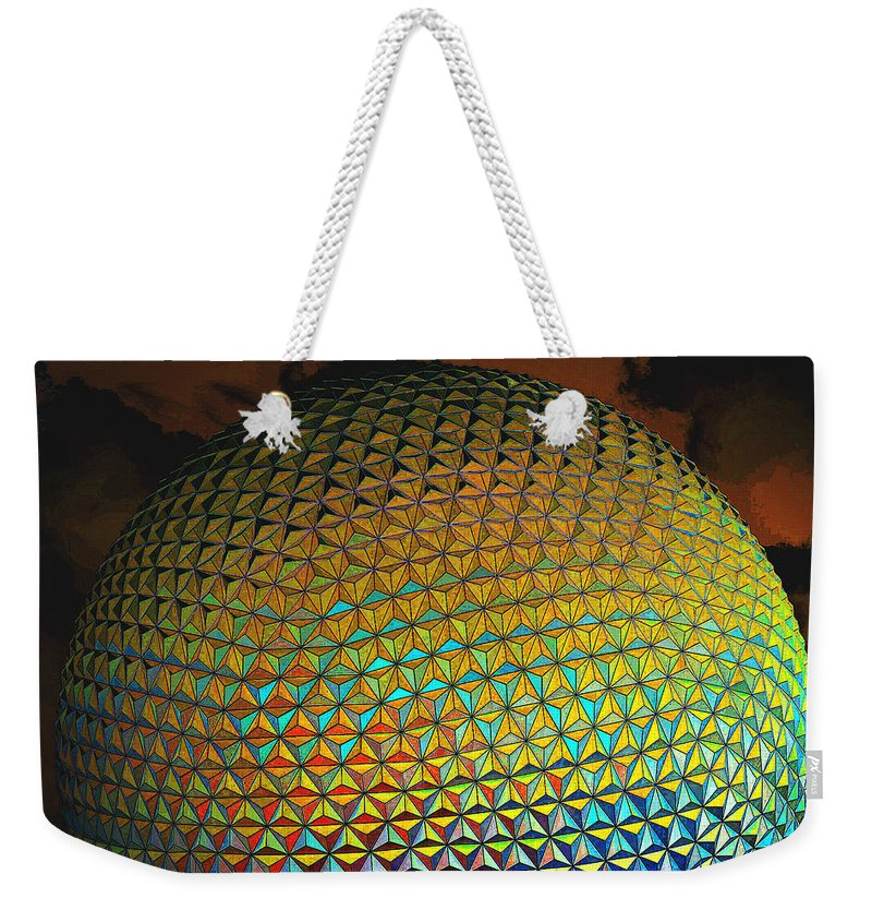 Epcot Weekender Tote Bag featuring the photograph Imagination by Robert Meanor