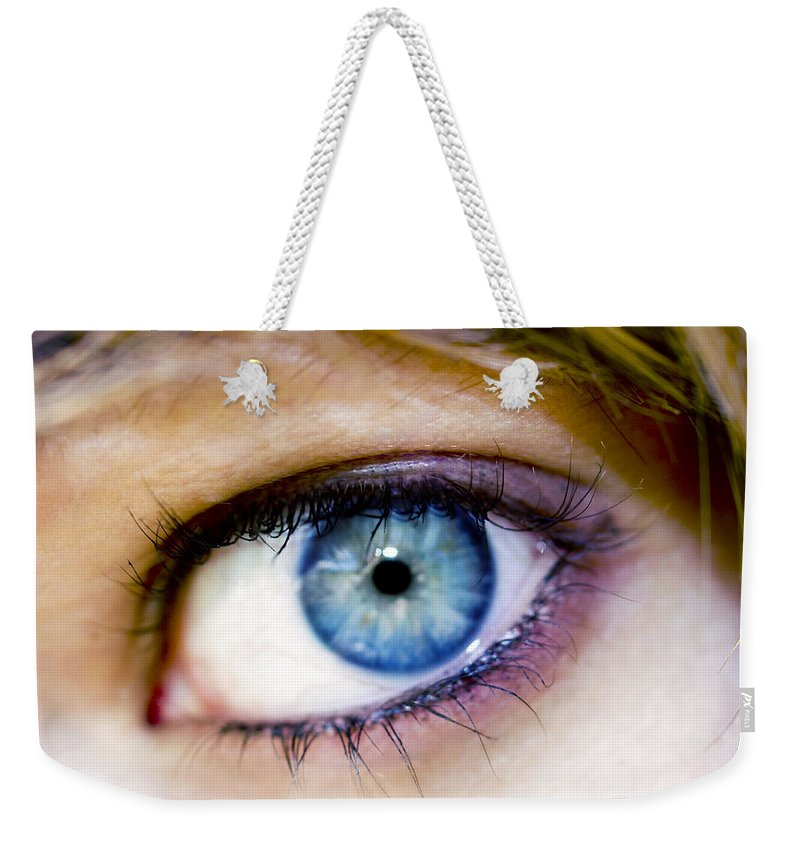 Eye Weekender Tote Bag featuring the photograph Imagine by Kelly Jade King