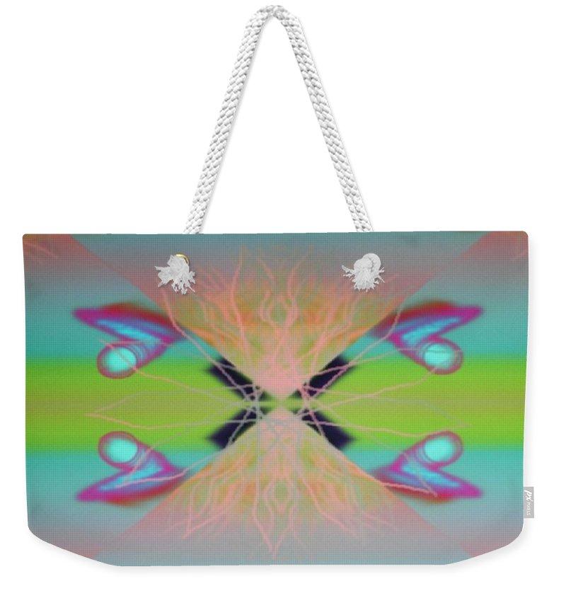 Digital Art Weekender Tote Bag featuring the digital art Img 0036 by Ralph Root