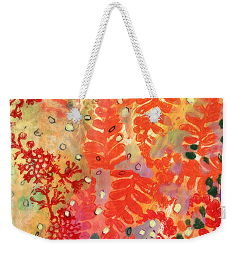 Summer Weekender Tote Bag featuring the painting Immersed In Summer Part 3 Of 3 by Jennifer Lommers