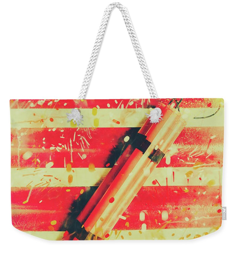Impact Weekender Tote Bag featuring the photograph Impact Blast by Jorgo Photography - Wall Art Gallery