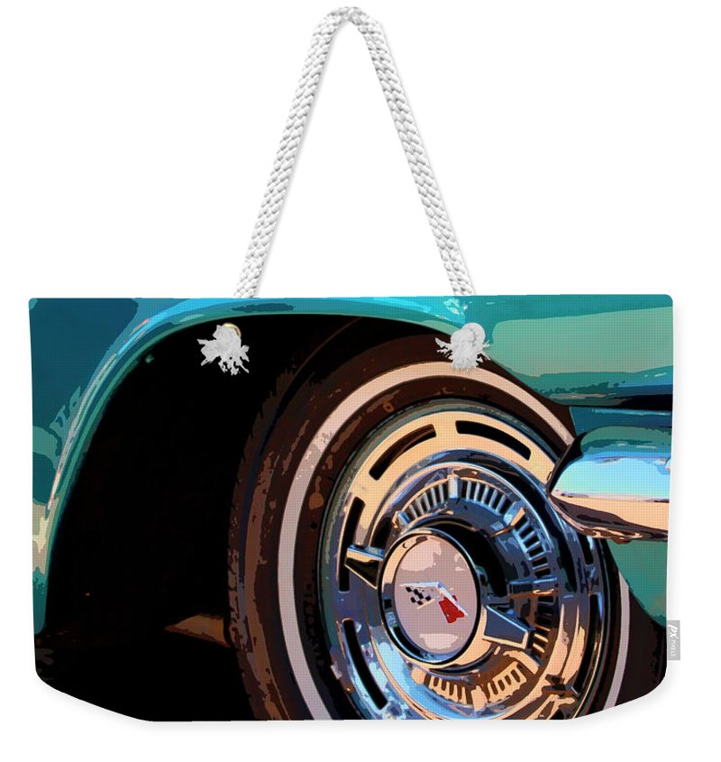Classic Car Weekender Tote Bag featuring the photograph Impala by William Dey