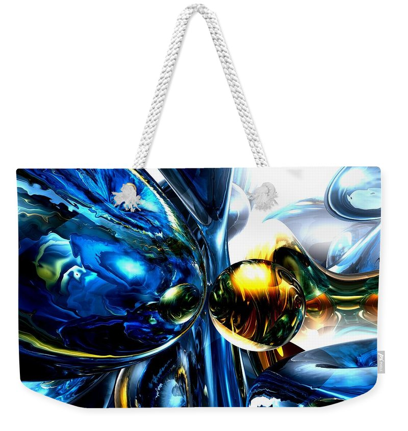 3d Weekender Tote Bag featuring the digital art Impassioned Abstract by Alexander Butler