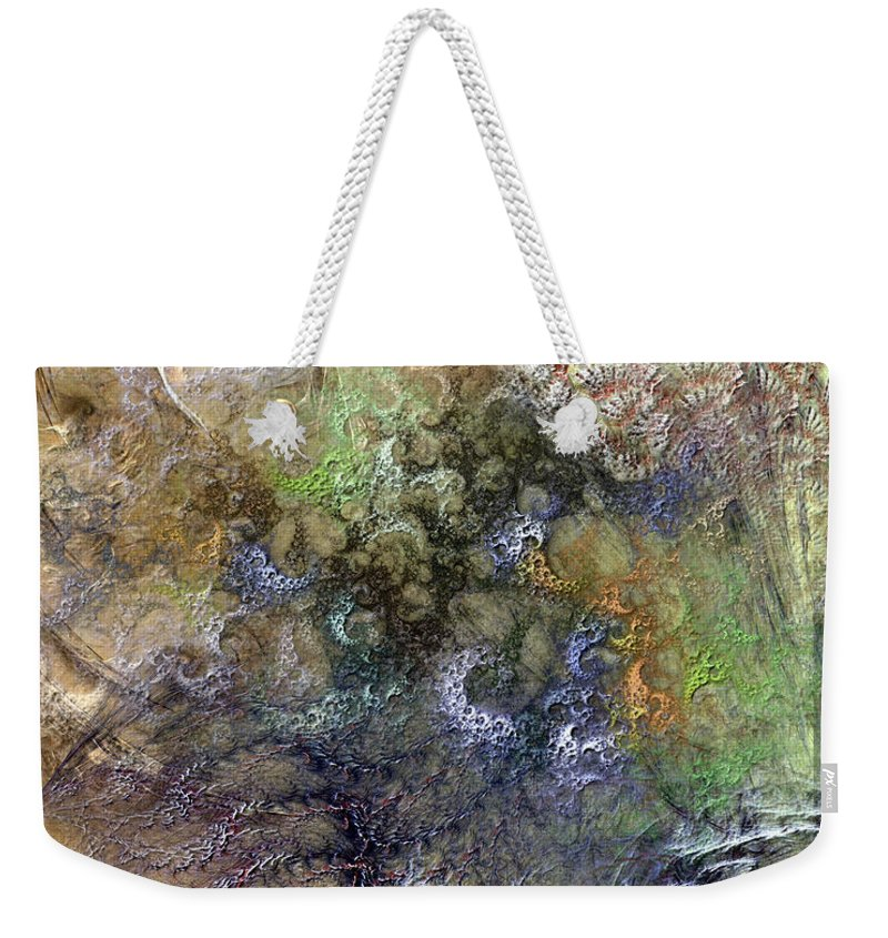 Abstract Weekender Tote Bag featuring the digital art Imperialistic Miasma by Casey Kotas