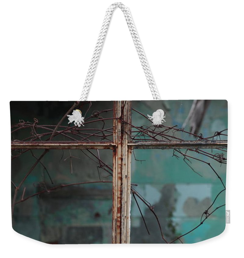 Windows Weekender Tote Bag featuring the photograph Imposition by Amanda Barcon