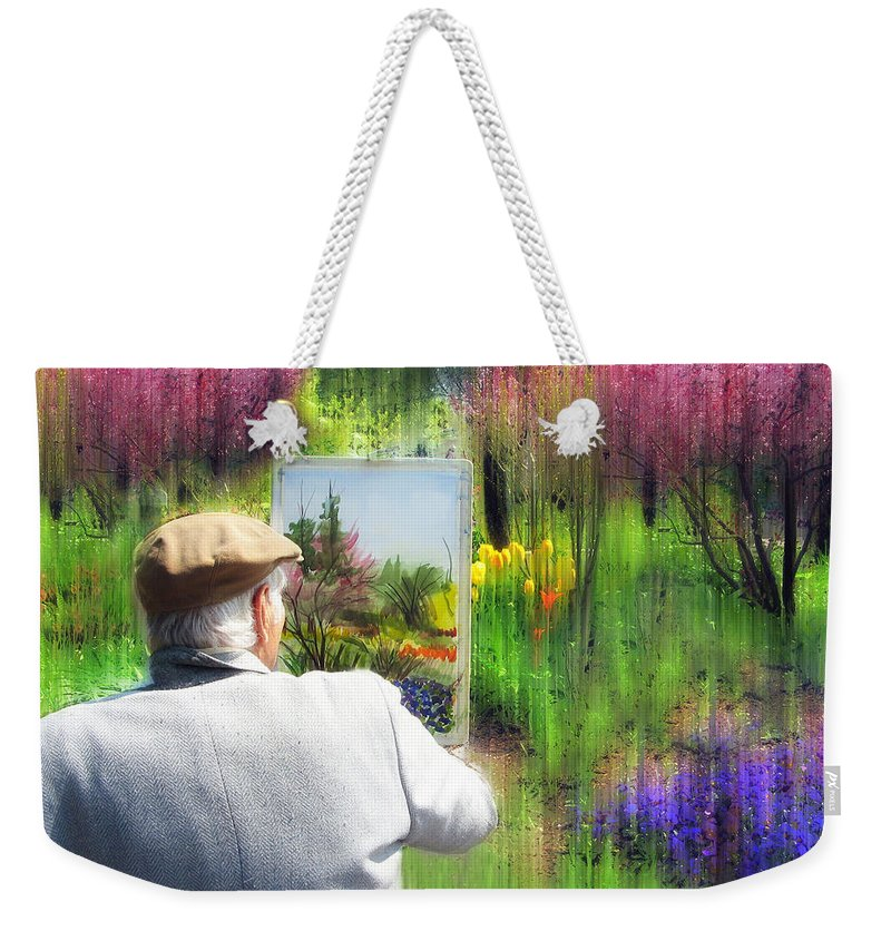 Artist Weekender Tote Bag featuring the photograph Impressionist Painter by Jessica Jenney