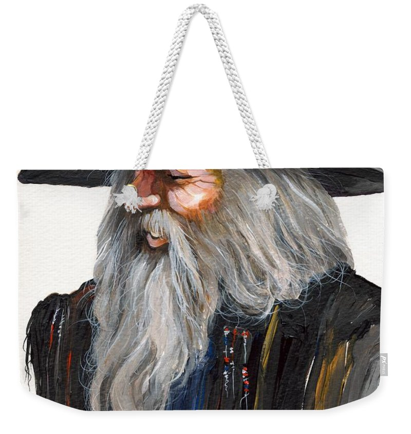 Fantasy Art Weekender Tote Bag featuring the painting Impressionist Wizard by J W Baker
