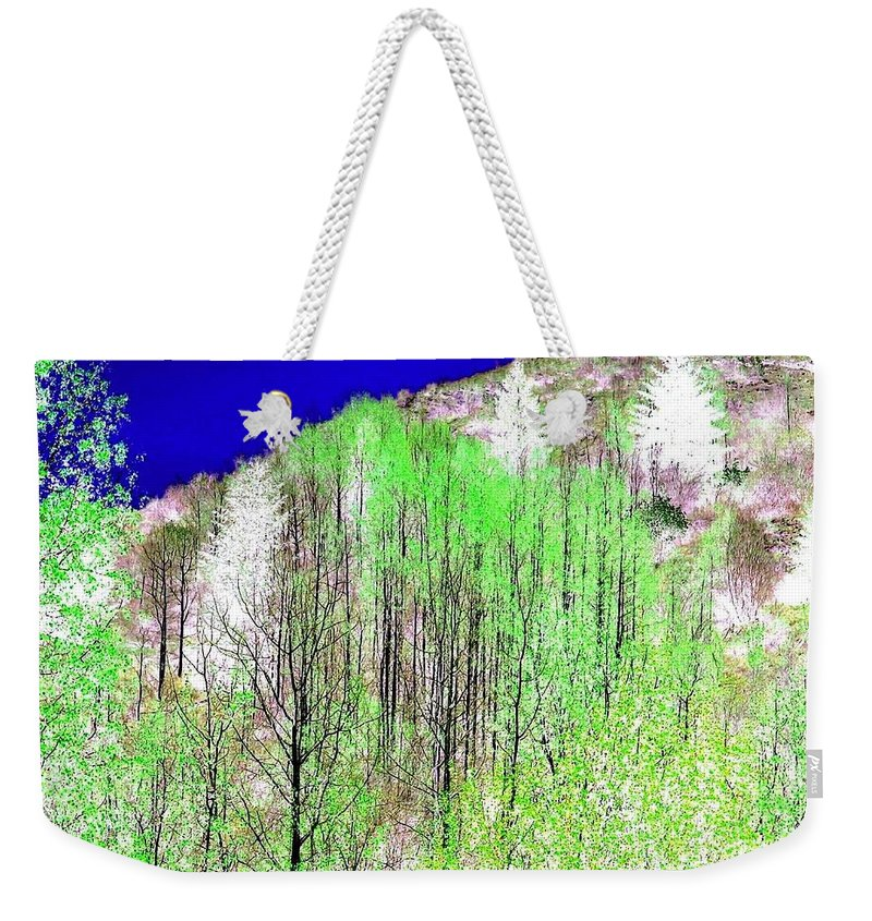 Impressions Weekender Tote Bag featuring the digital art Impressions 12 by Will Borden