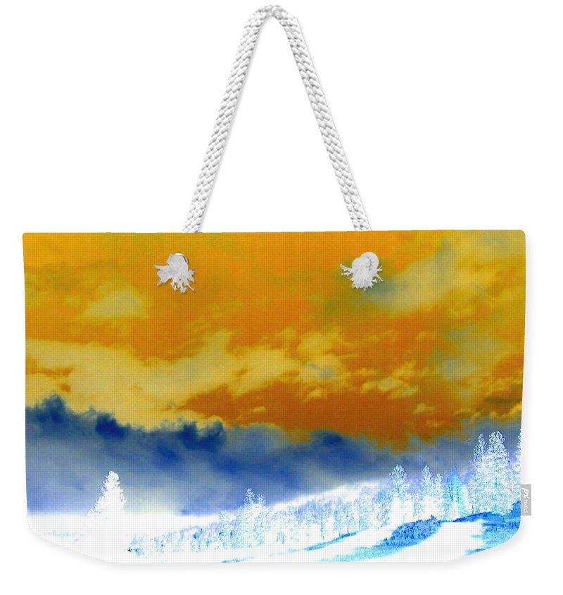 Impressions Weekender Tote Bag featuring the digital art Impressions 2 by Will Borden