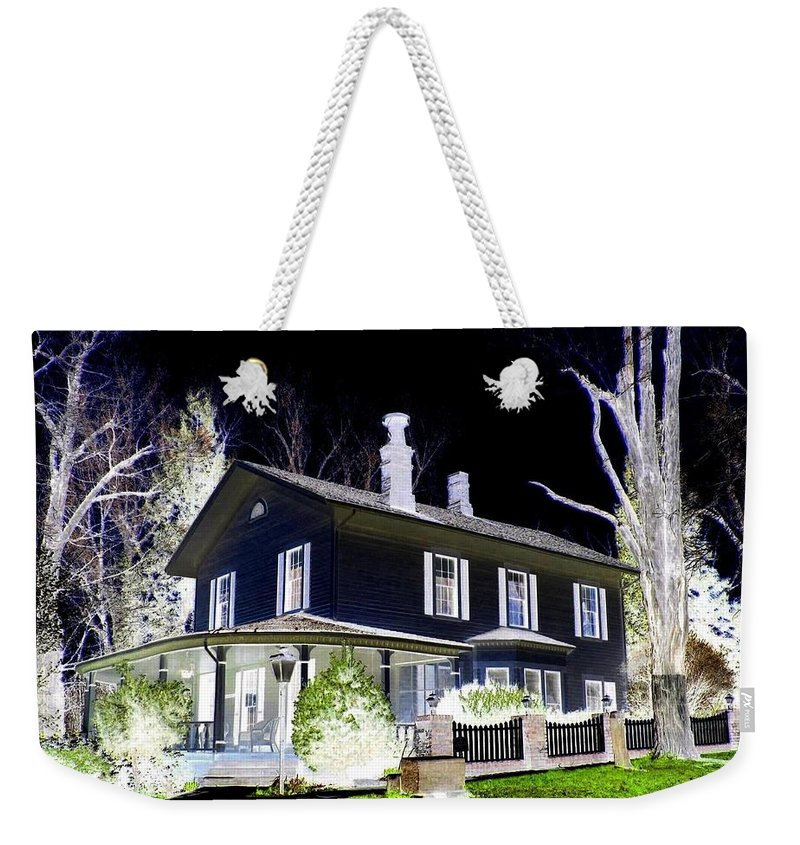 Impressions Weekender Tote Bag featuring the digital art Impressions 5 by Will Borden