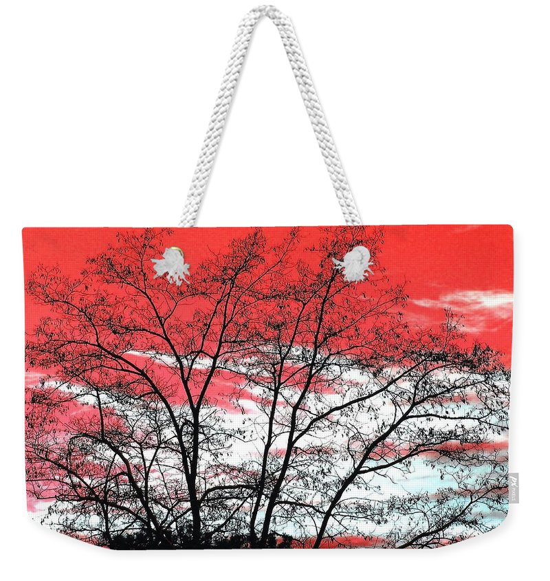 Impressions Weekender Tote Bag featuring the digital art Impressions 6 by Will Borden