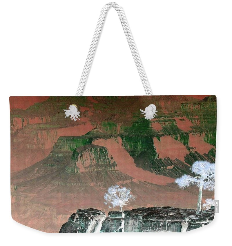 Impressions Weekender Tote Bag featuring the digital art Impressions 8 by Will Borden