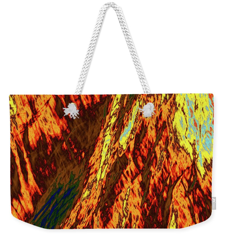 Forest Weekender Tote Bag featuring the photograph Impressions Of A Burning Forest 11 by Gary Bartoloni