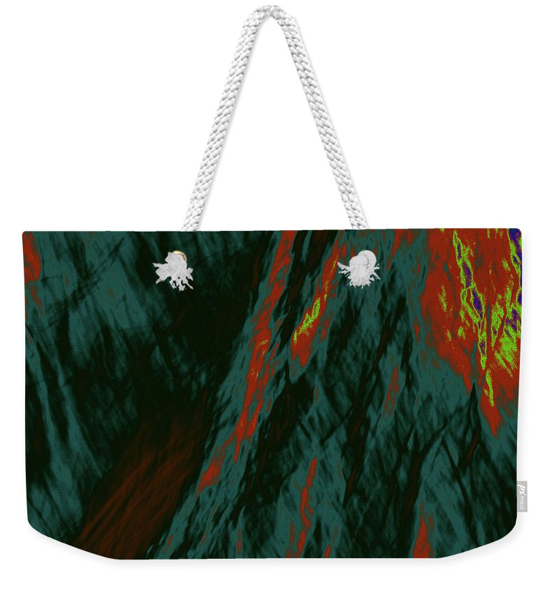 Forest Weekender Tote Bag featuring the photograph Impressions Of A Burning Forest 7 by Gary Bartoloni