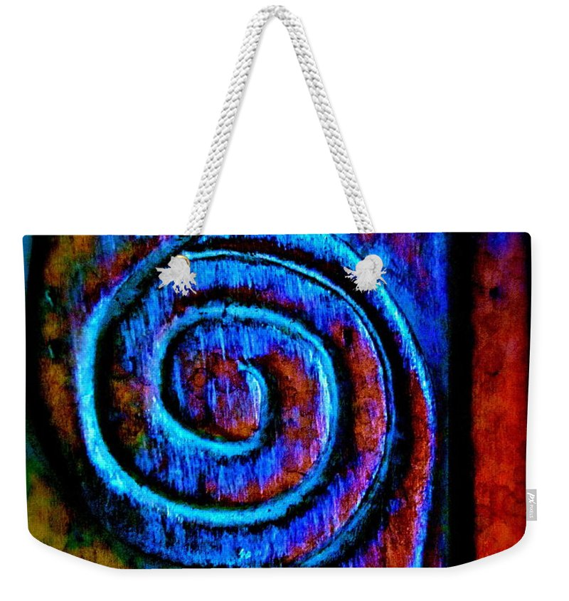 Distressed Weekender Tote Bag featuring the photograph Impulsive Color by Gwyn Newcombe
