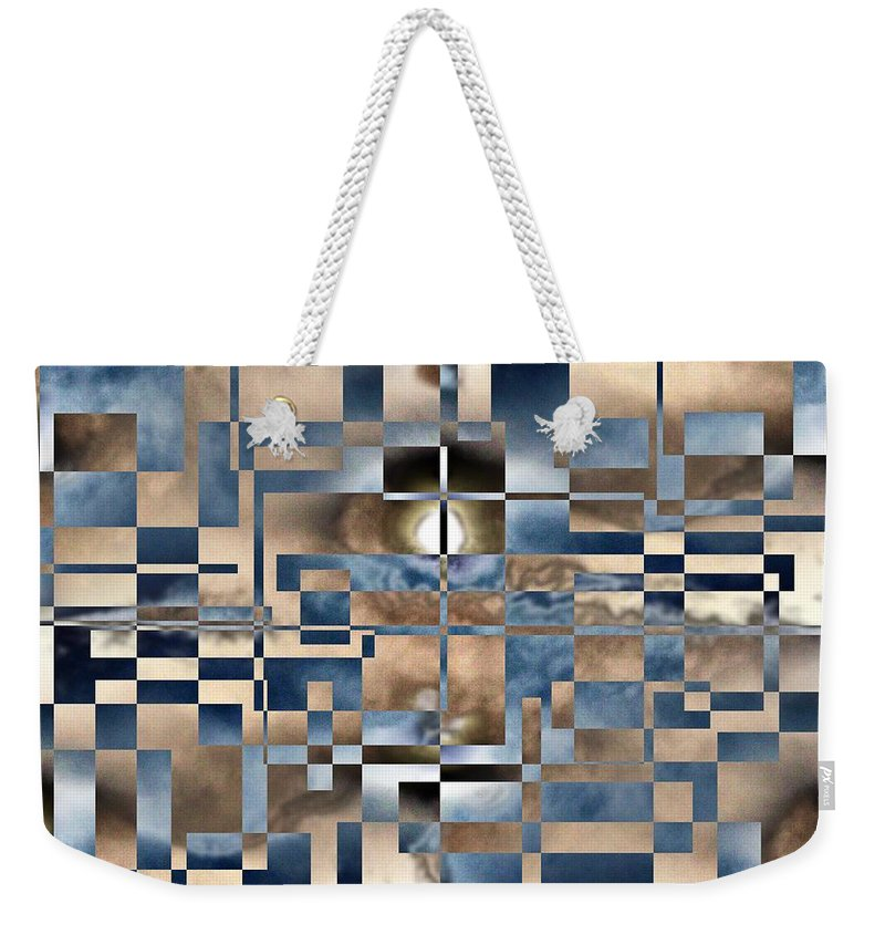 Abstract Weekender Tote Bag featuring the digital art In A Fog by Tim Allen