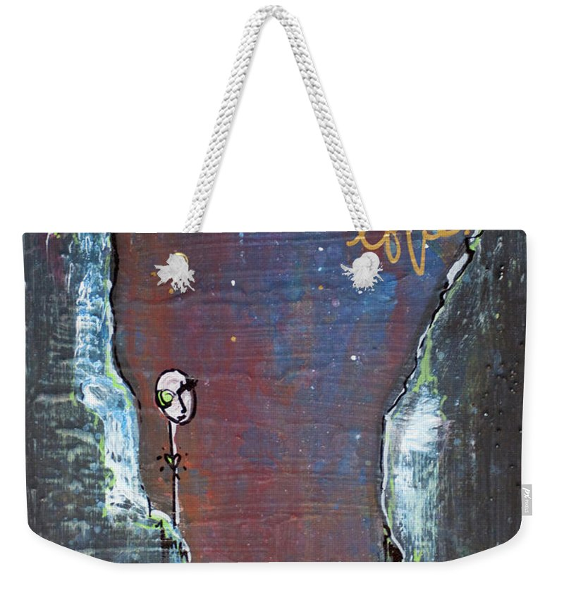 Cliffs Weekender Tote Bag featuring the painting In All My Tiny Little Stars by Laurie Maves ART