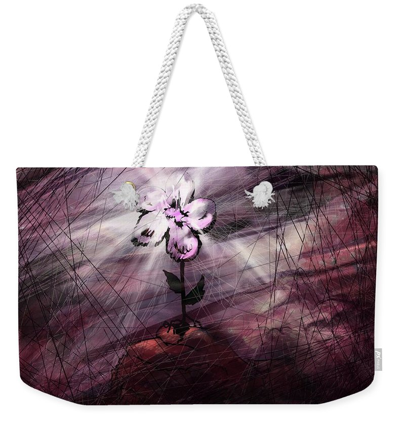 Abstract Weekender Tote Bag featuring the digital art In All Things In Him by Rachel Christine Nowicki