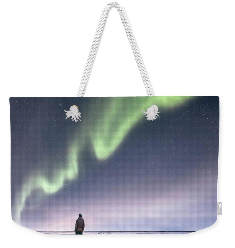 Kremsdorf Weekender Tote Bag featuring the photograph In Awe by Evelina Kremsdorf