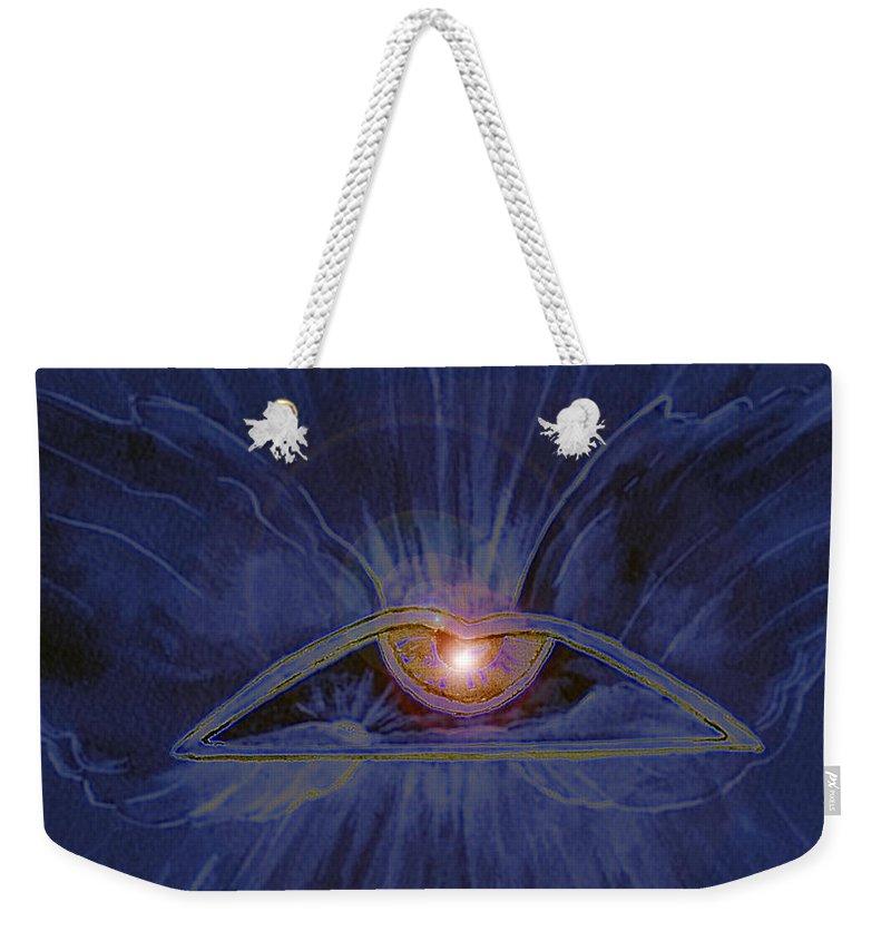 Watercolor Weekender Tote Bag featuring the painting In Dream's Eye by Brenda Owen