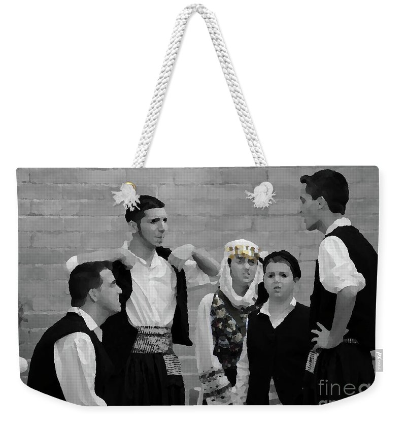 Children Weekender Tote Bag featuring the photograph In Greek Discussion by Jost Houk