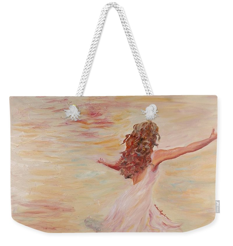 Dance Weekender Tote Bag featuring the painting In Him We Live by Nadine Rippelmeyer