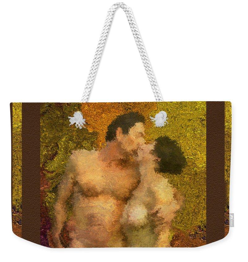 Nudes Weekender Tote Bag featuring the photograph In Love by Kurt Van Wagner