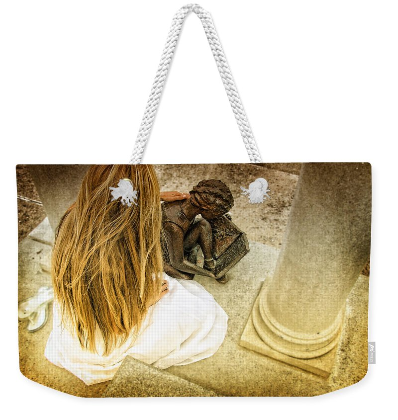 Graves Weekender Tote Bag featuring the photograph In Loving Memory by Kristie Bonnewell