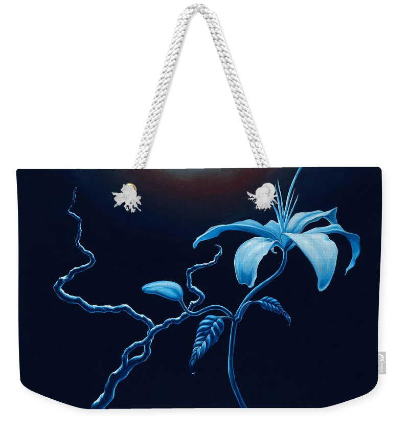 Lily Flower Weekender Tote Bag featuring the painting In Memorial by Jennifer McDuffie