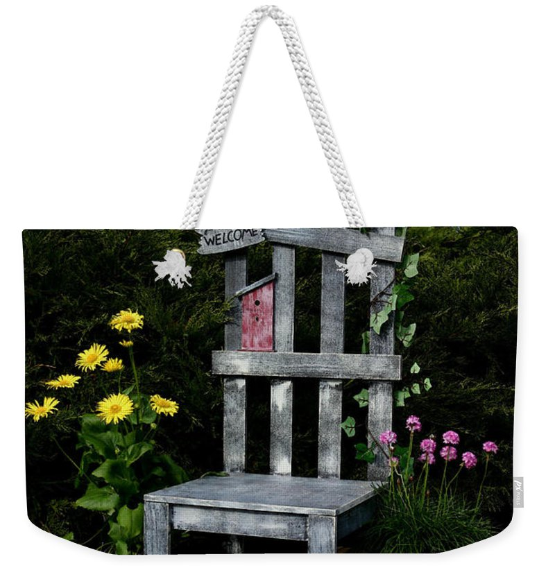 Garden Weekender Tote Bag featuring the photograph In My Garden by Karol Livote