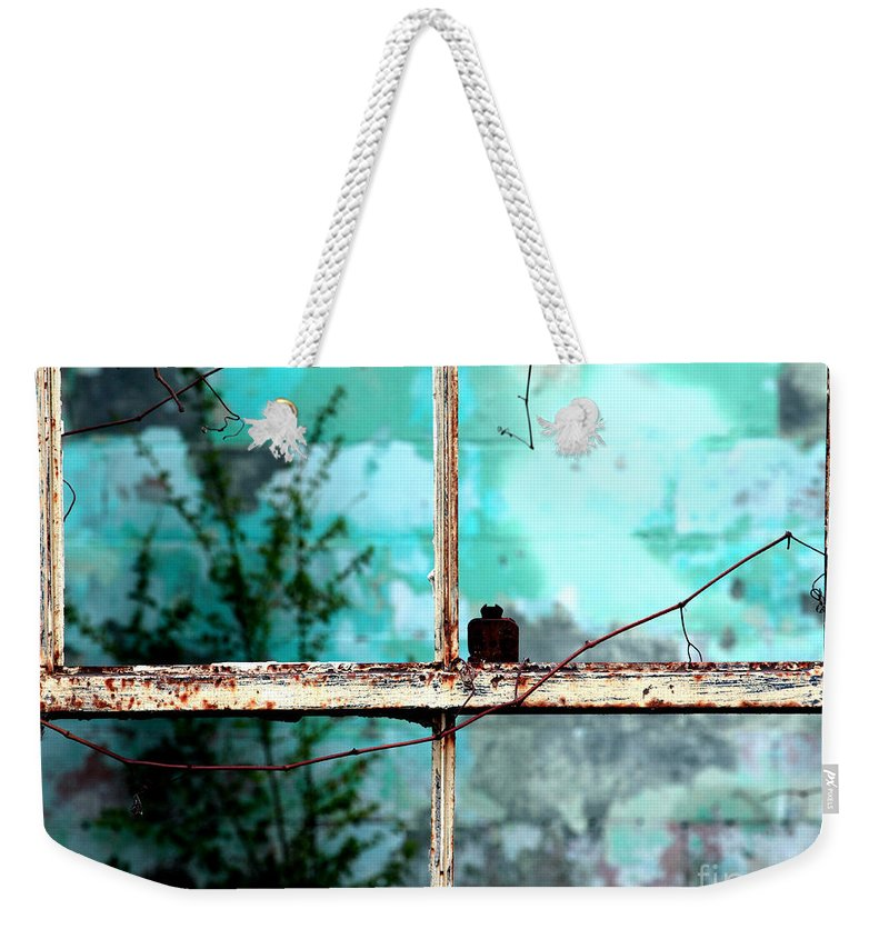 Windows Weekender Tote Bag featuring the photograph In Or Out by Amanda Barcon